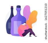 drunk depressed man  alcoholic... | Shutterstock .eps vector #1627051210