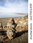 Trail Cairn To Mark Beach Rout...