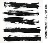 realistic black gouache on... | Shutterstock .eps vector #162705188