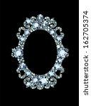 diamond mirror frame