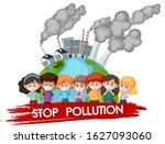 poster design for stop... | Shutterstock .eps vector #1627093060
