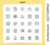 outline 25 arcade icon set....