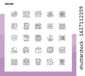 set of arcade line icon set 25...