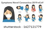 symptoms of novel coronavirus... | Shutterstock .eps vector #1627121779