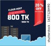 cloud hosting banner web... | Shutterstock .eps vector #1627128490
