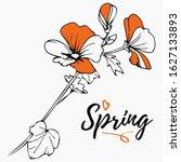 Orange Blossom. Hand Drawn...