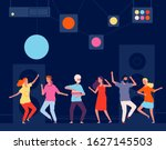 night club dancers. young happy ...   Shutterstock .eps vector #1627145503