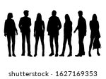 vector silhouettes of  men and... | Shutterstock .eps vector #1627169353