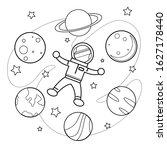 A Coloring Book Astronaut For...