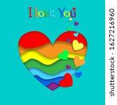 i love you lgbt happy... | Shutterstock . vector #1627216960