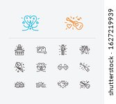 amour icons set. lesbian and...