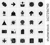 25 universal icons vector... | Shutterstock .eps vector #1627256740