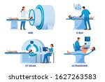 mri and x ray scanner ... | Shutterstock .eps vector #1627263583