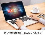 people reading fake news or... | Shutterstock . vector #1627272763