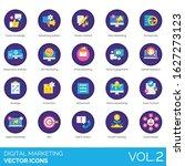 digital marketing icons...