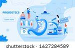 tiny doctors give stomach... | Shutterstock .eps vector #1627284589