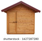 Wooden Shed Or Log Cabin House...