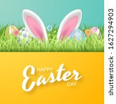 happy easter background with... | Shutterstock .eps vector #1627294903