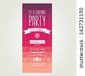 vector christmas party... | Shutterstock .eps vector #162731150