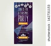 vector christmas party... | Shutterstock .eps vector #162731153