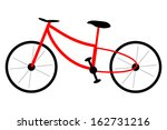 isolated image of a bike.... | Shutterstock .eps vector #162731216