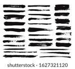 ink brush stroke. dry paint... | Shutterstock .eps vector #1627321120