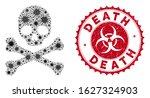 coronavirus mosaic death icon... | Shutterstock .eps vector #1627324903