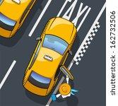 taxi. illustration landing in... | Shutterstock .eps vector #162732506