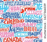 lettering hand drawn seamless... | Shutterstock .eps vector #1627366039