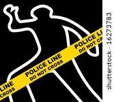 crime scene | Shutterstock . vector #16273783