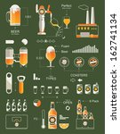 beer info graphic background... | Shutterstock .eps vector #162741134