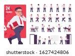 fat male clerk in formal wear... | Shutterstock .eps vector #1627424806