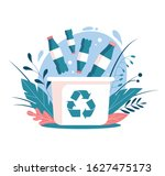 recycling plastic waste.... | Shutterstock .eps vector #1627475173