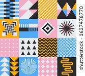 geometry mural artwork with... | Shutterstock .eps vector #1627478770
