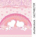 pink decoration valentine card... | Shutterstock . vector #1627482739