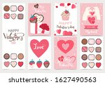 collection of valentine s day... | Shutterstock .eps vector #1627490563