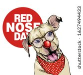 Red Nose Day Poster. Vector...