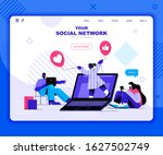 social network landing page...