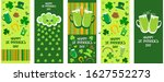 set of happy st. patrick's day... | Shutterstock .eps vector #1627552273