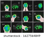brochure layout of square... | Shutterstock .eps vector #1627564849