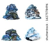 heaps of different clothes on... | Shutterstock . vector #1627578496