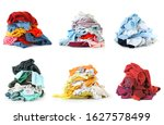 heaps of different clothes on... | Shutterstock . vector #1627578499