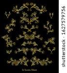 set of vintage decorative... | Shutterstock .eps vector #1627579756