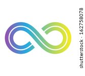 illustration of infinity symbol ... | Shutterstock .eps vector #162758078
