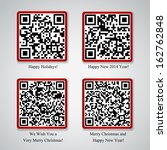 christmas and new year qr code... | Shutterstock .eps vector #162762848