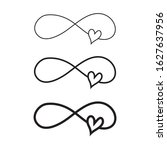 hand drawn infinity symbol with ...   Shutterstock .eps vector #1627637956