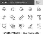 blood vector line icons set....   Shutterstock .eps vector #1627639609