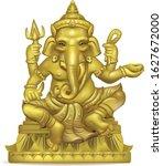golden ganesha painting on a... | Shutterstock .eps vector #1627672000