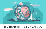 barbecue grill concept  flat...   Shutterstock .eps vector #1627676770