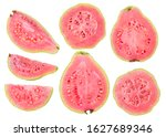 Isolated Cut Guava Fruits....